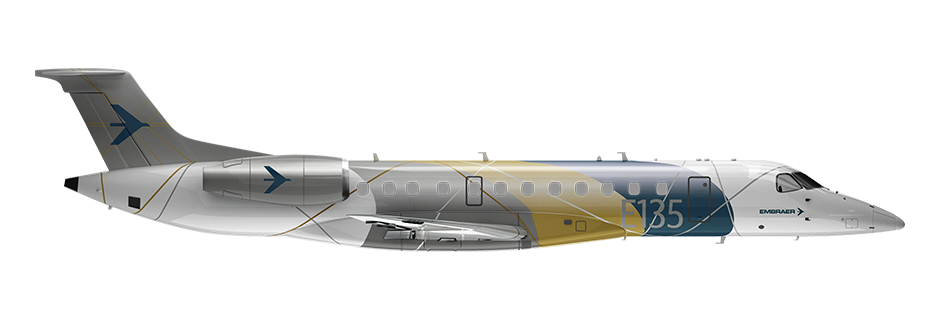 ERJ135 Side Profile