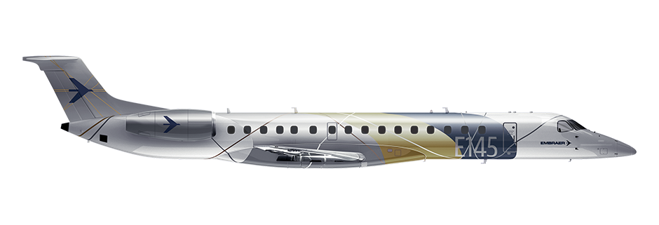 ERJ145 Side Profile