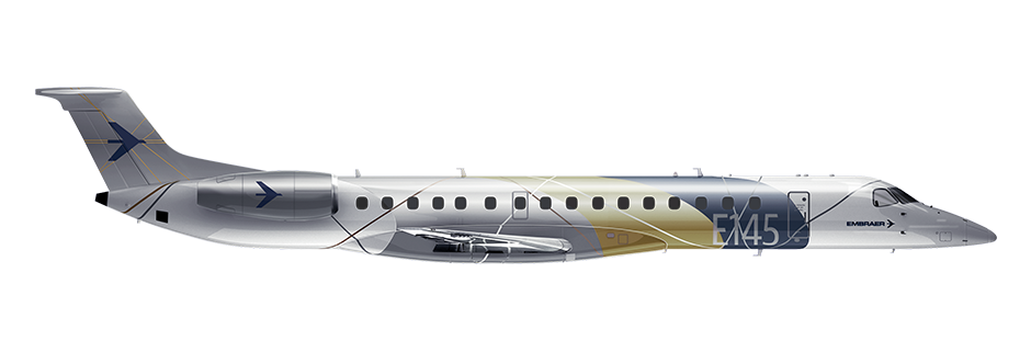ERJ145XR Side Profile